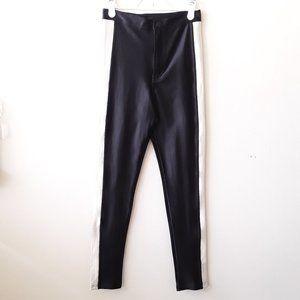 Vintage black white high waisted skinny pants